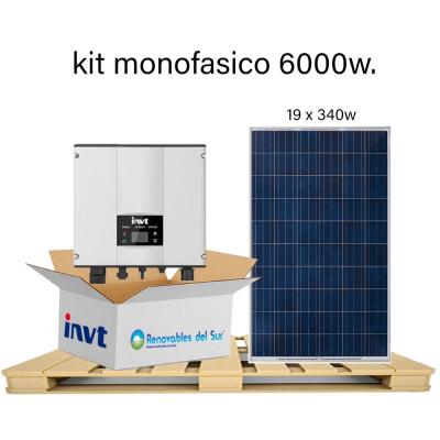 Kit 6000W autoconsumo monofásico