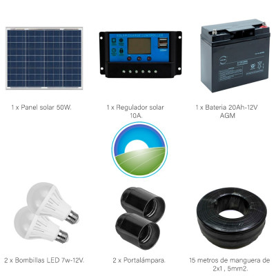 Kit Iluminación LED Renovables del Sur