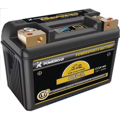 Batería Poweroad Moto Litio PLFP-7L 24Wh 12V 140CCA