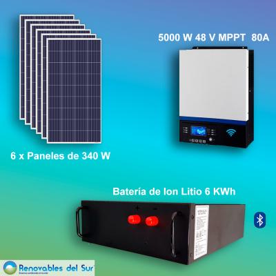 Kit Solar 5000W uso diario Renovables del Sur