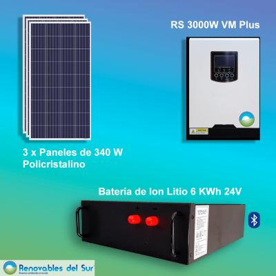 Kit solar 3000W policristalino Renovables del Sur