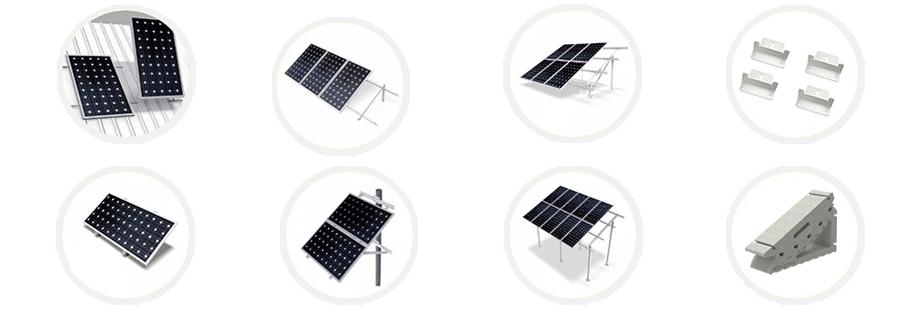 Estructuras Placas Solares | Coplanares, Inclinadas, sobre Poste y Especiales