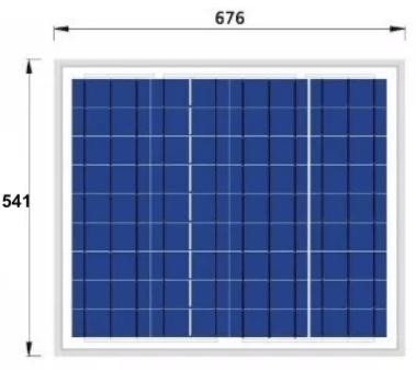 Panel solar 50W renovables del Sur