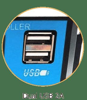 puerto usb regulador solar PWM